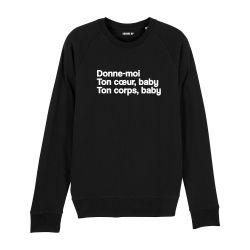 Sweatshirt Donne moi ton cœur - Homme - 4