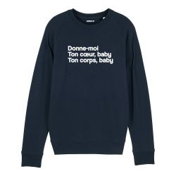 Sweatshirt Donne moi ton cœur - Homme - 2