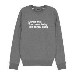 Sweatshirt Donne moi ton cœur - Homme - 5