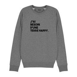 Sweatshirt J'ai besoin d'une terre happy - Homme - 2