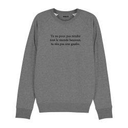 Sweatshirt Tu n'es pas une gaufre - Homme - 2