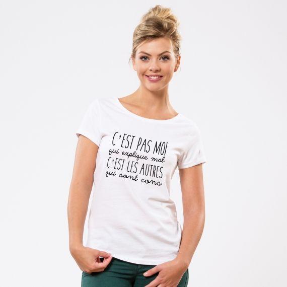 T-shirt C'est pas moi qui explique mal - Femme