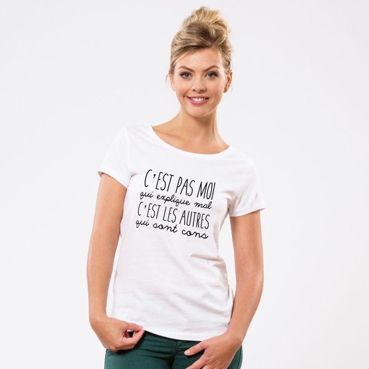 T-shirt C'est pas moi qui explique mal - Femme - 1