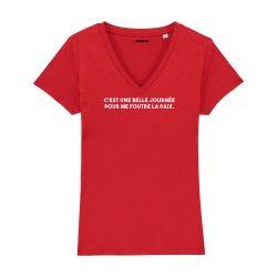 T-shirt col V - C'est une belle journée - Femme - 5