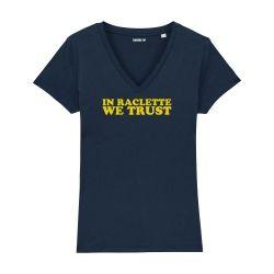 T-shirt col V - In raclette we trust - Femme - 2