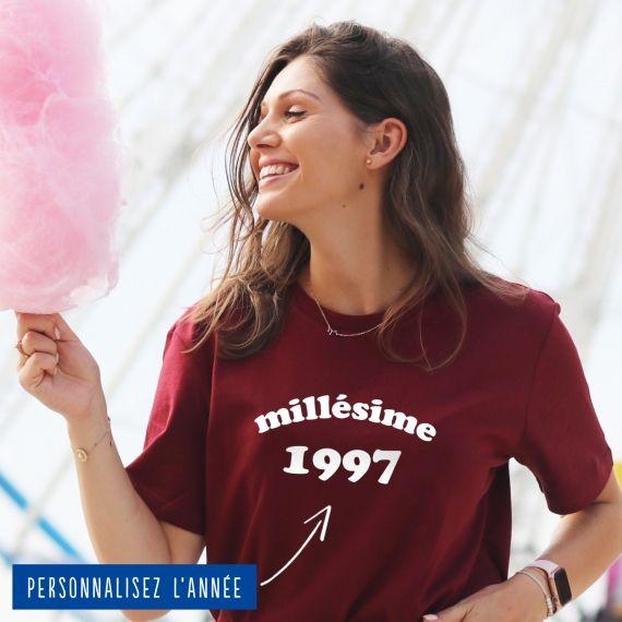 """T-shirt Femme """"Millésime"""" personnalisé"""
