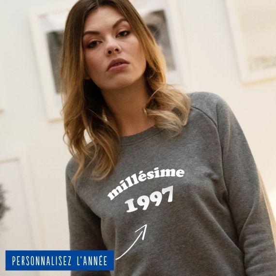 Sweatshirt Femme millésime personnalisé