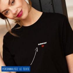 T-shirt Femme petit coeur personnalisé - 8