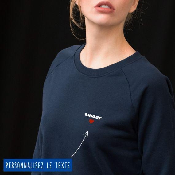 Sweatshirt Femme petit coeur personnalisé