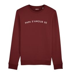 Sweatshirt Homme papa d'amour de personnalisé - 2