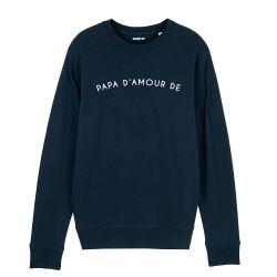 Sweatshirt Homme papa d'amour de personnalisé - 3