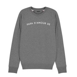 Sweatshirt Homme papa d'amour de personnalisé - 4