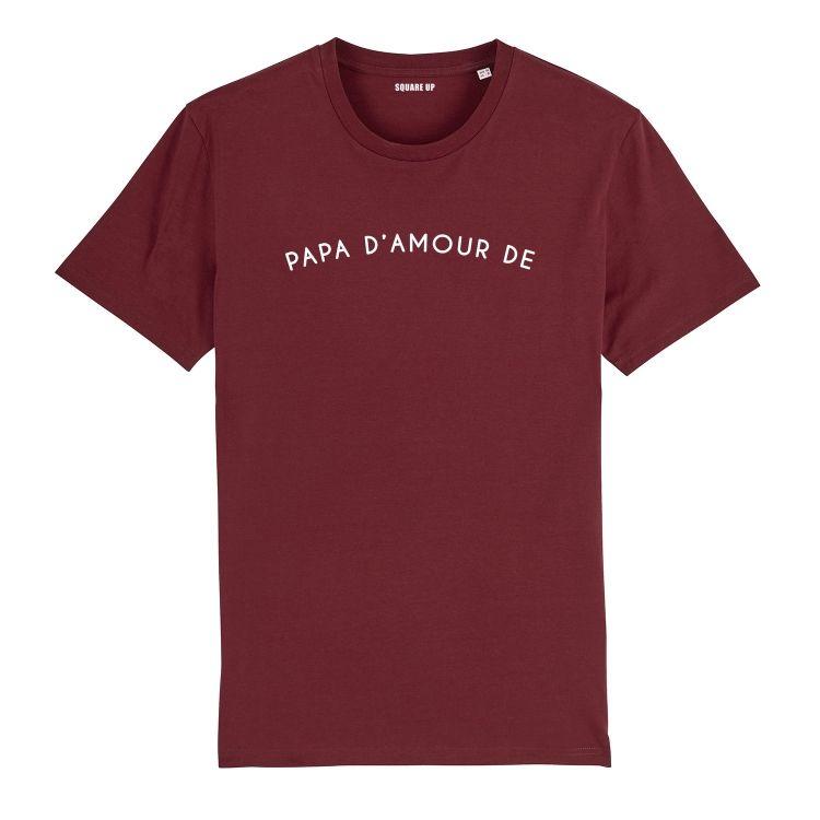 T-shirt Homme papa d'amour de personnalisé - 2
