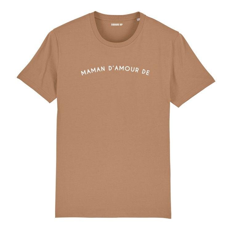 """T-shirt Femme """"maman d'amour de"""" personnalisé - 5"""