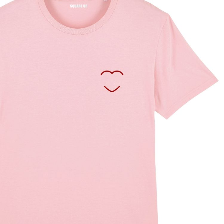 T-shirt Femme coeur rouge personnalisé - 5
