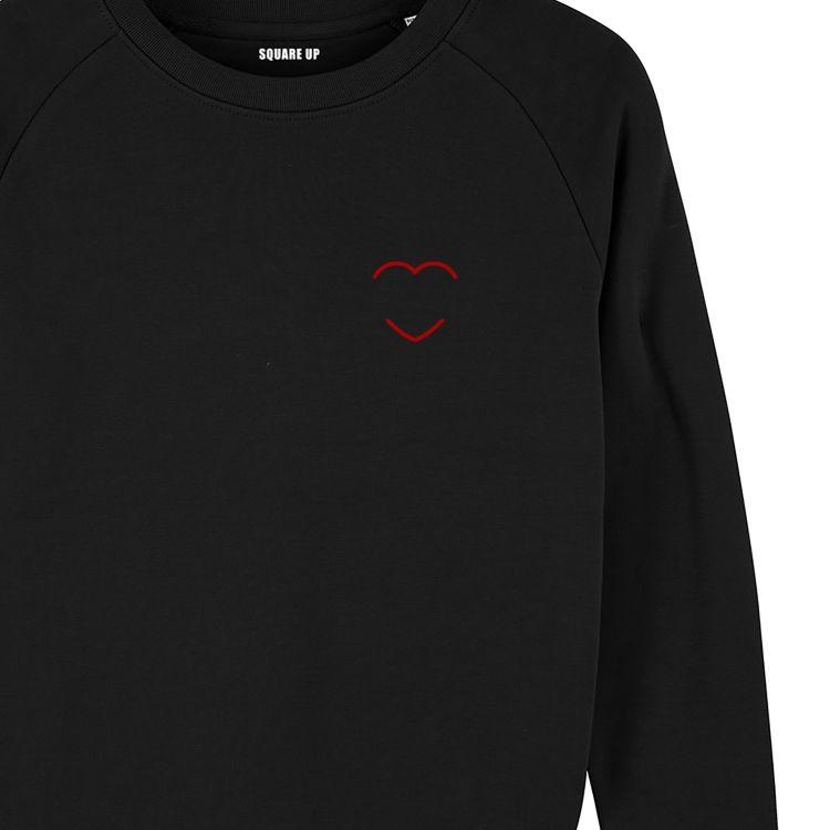 Sweatshirt Homme coeur rouge personnalisé - 1