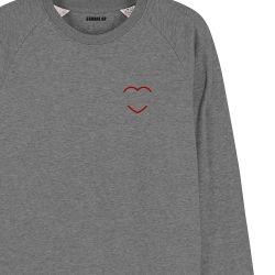 Sweatshirt Homme coeur rouge personnalisé - 3