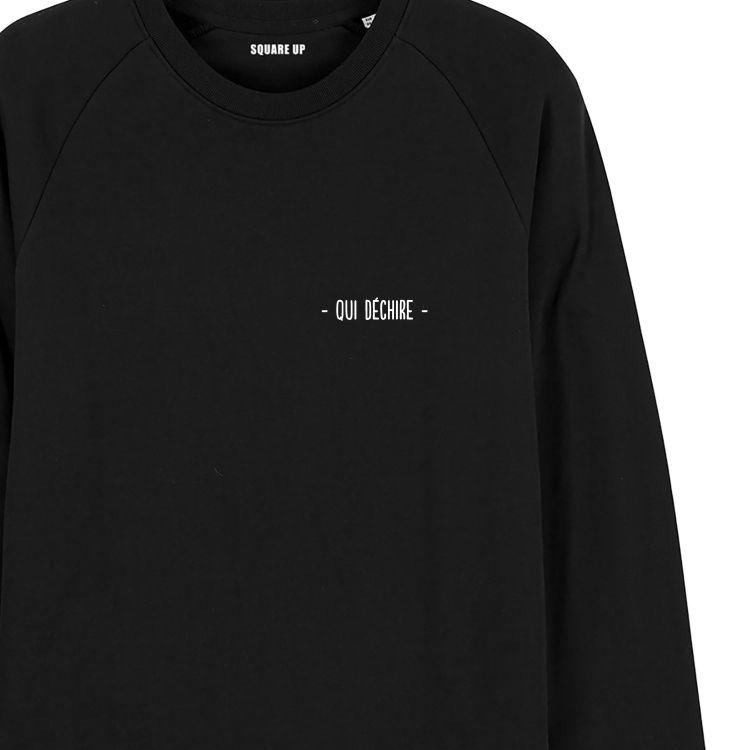 """Sweatshirt Homme """"qui déchire"""" personnalisé - 1"""