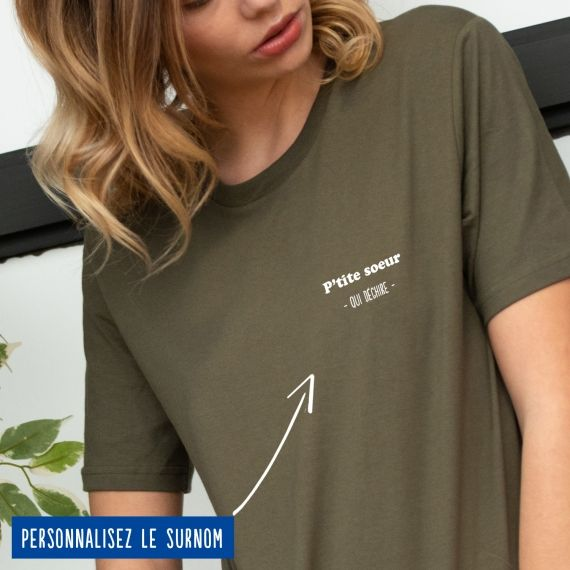 """T-shirt Femme """"qui déchire"""" personnalisé"""