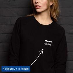 """Sweatshirt Femme """"qui déchire"""" personnalisé - 4"""