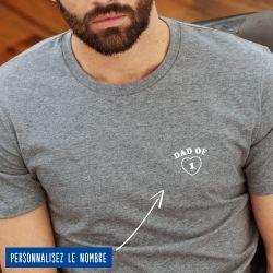 """T-shirt Homme """"Dad of"""" personnalisé - 7"""