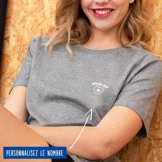 "T-shirt Femme ""Mum of"" personnalisé"