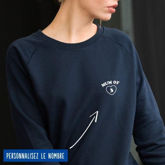 "Sweatshirt Femme ""Mum of"" personnalisé"