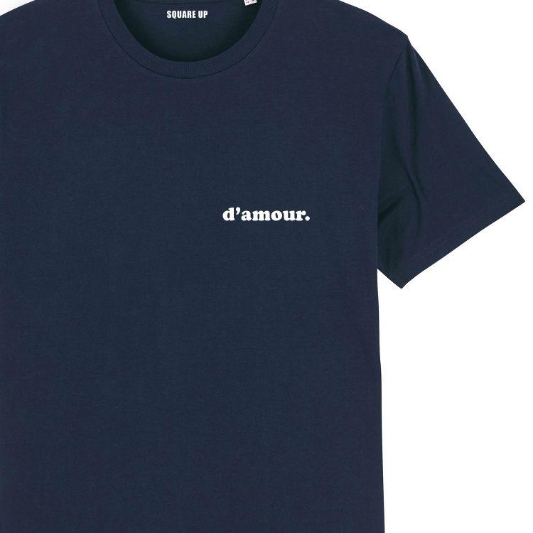 """T-shirt Homme """"d'amour"""" personnalisé - 1"""