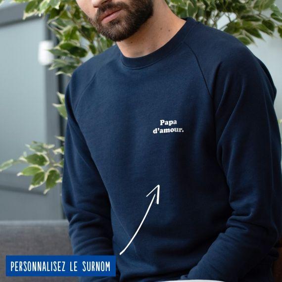 """Sweatshirt Homme """"d'amour"""" personnalisé"""