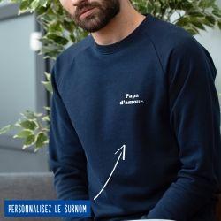"""Sweatshirt Homme """"d'amour"""" personnalisé - 5"""