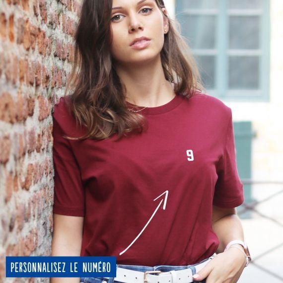 T-shirt Femme numéro personnalisé