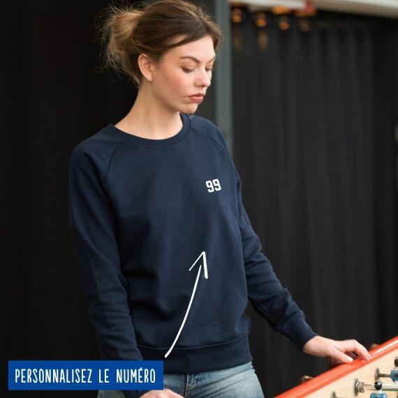 Sweatshirt Femme numéro personnalisé