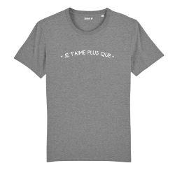 """T-shirt Femme """"Je t'aime plus que"""" personnalisé - 1"""