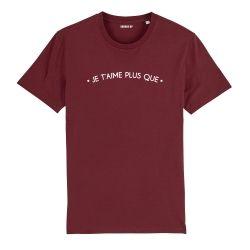 """T-shirt Femme """"Je t'aime plus que"""" personnalisé - 6"""