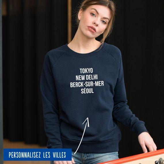 Sweatshirt Femme villes personnalisables