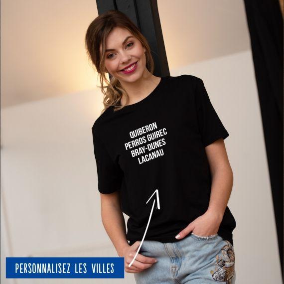T-shirt Femme villes personnalisables