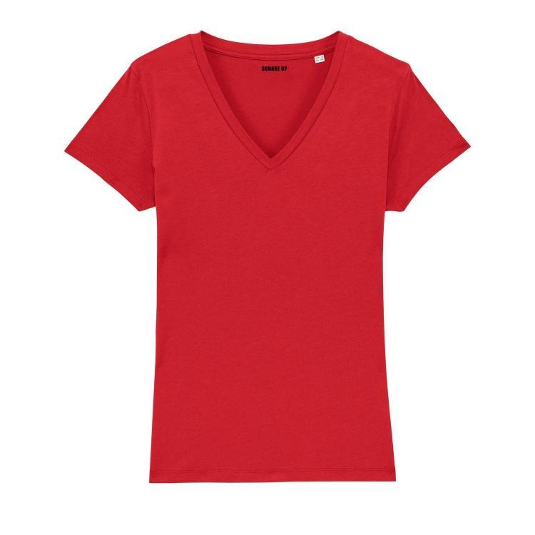 T-shirt Femme col V villes personnalisables - 3