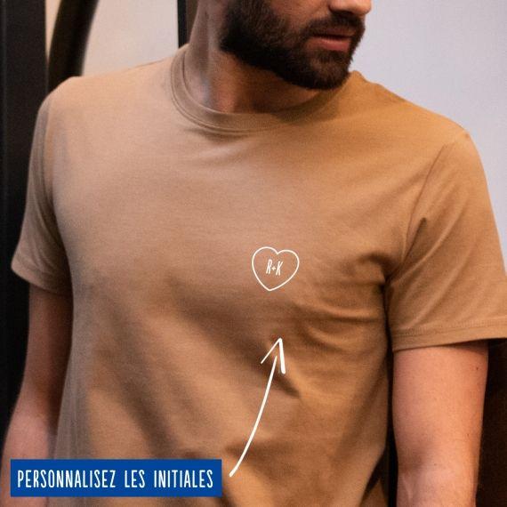 T-shirt Homme initiales personnalisées