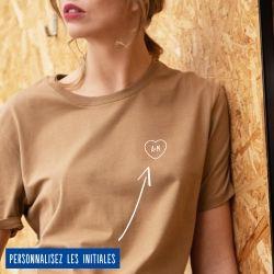 T-shirt Femme initiales personnalisées - 8