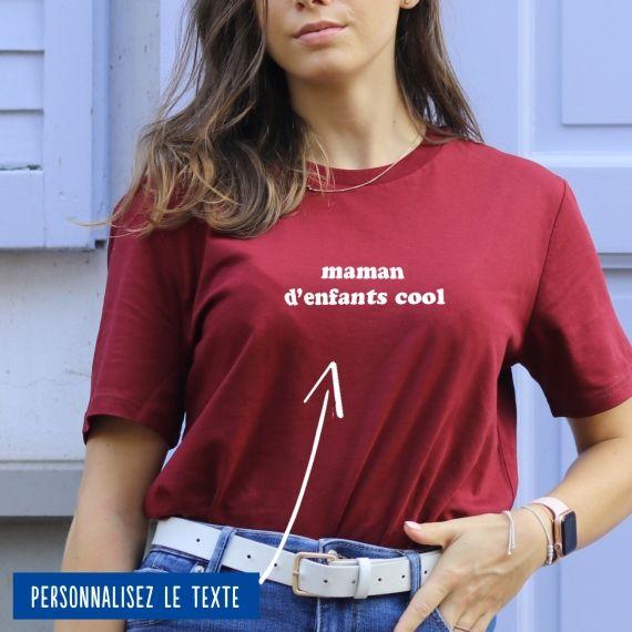 """T-shirt Femme """"Maman"""" à personnaliser"""