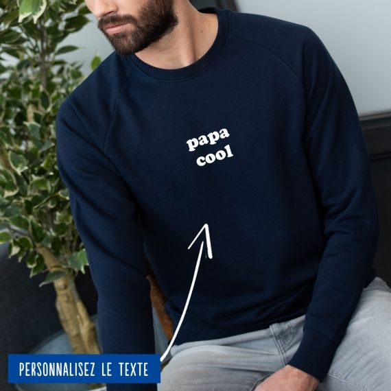 """Sweatshirt Homme """"Papa"""" personnalisé"""