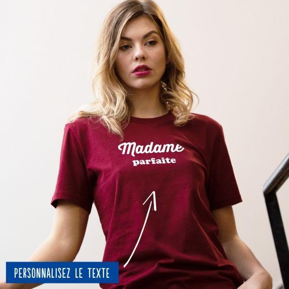 """T-shirt Femme """"madame"""" personnalisé"""
