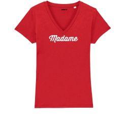 """T-shirt Femme col V """"Madame"""" personnalisé - 1"""