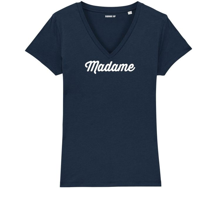 """T-shirt Femme col V """"Madame"""" personnalisé - 2"""