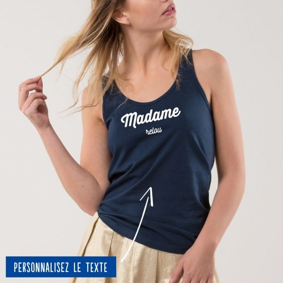 """Débardeur Femme """"Madame"""" personnalisé"""