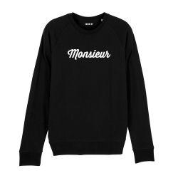 "Sweatshirt Homme ""Monsieur"" personnalisé - 1"