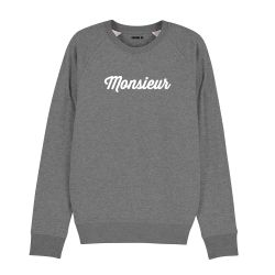 "Sweatshirt Homme ""Monsieur"" personnalisé - 4"