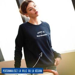 "Sweatshirt Femme ""Made in"" personnalisé - 4"