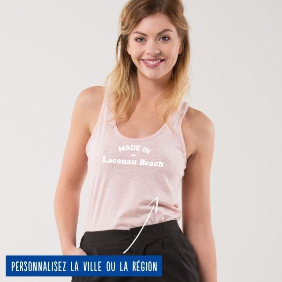 """Débardeur Femme """"Made in"""" personnalisé"""