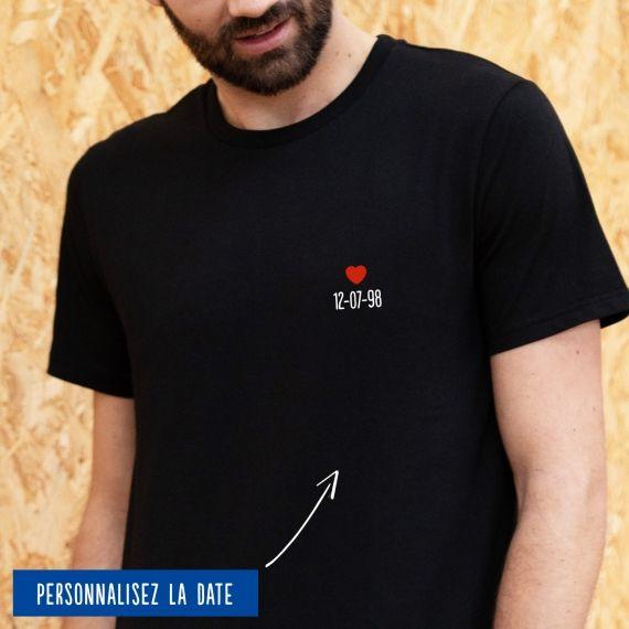 T-shirt Homme date personnalisée